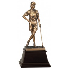 GSN11  Female Bronze Resin Golfer